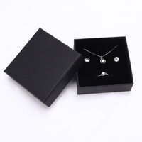 Custom Cheap Necklace Rings Bracelet Box Black Gift Jewelry Packaging Box