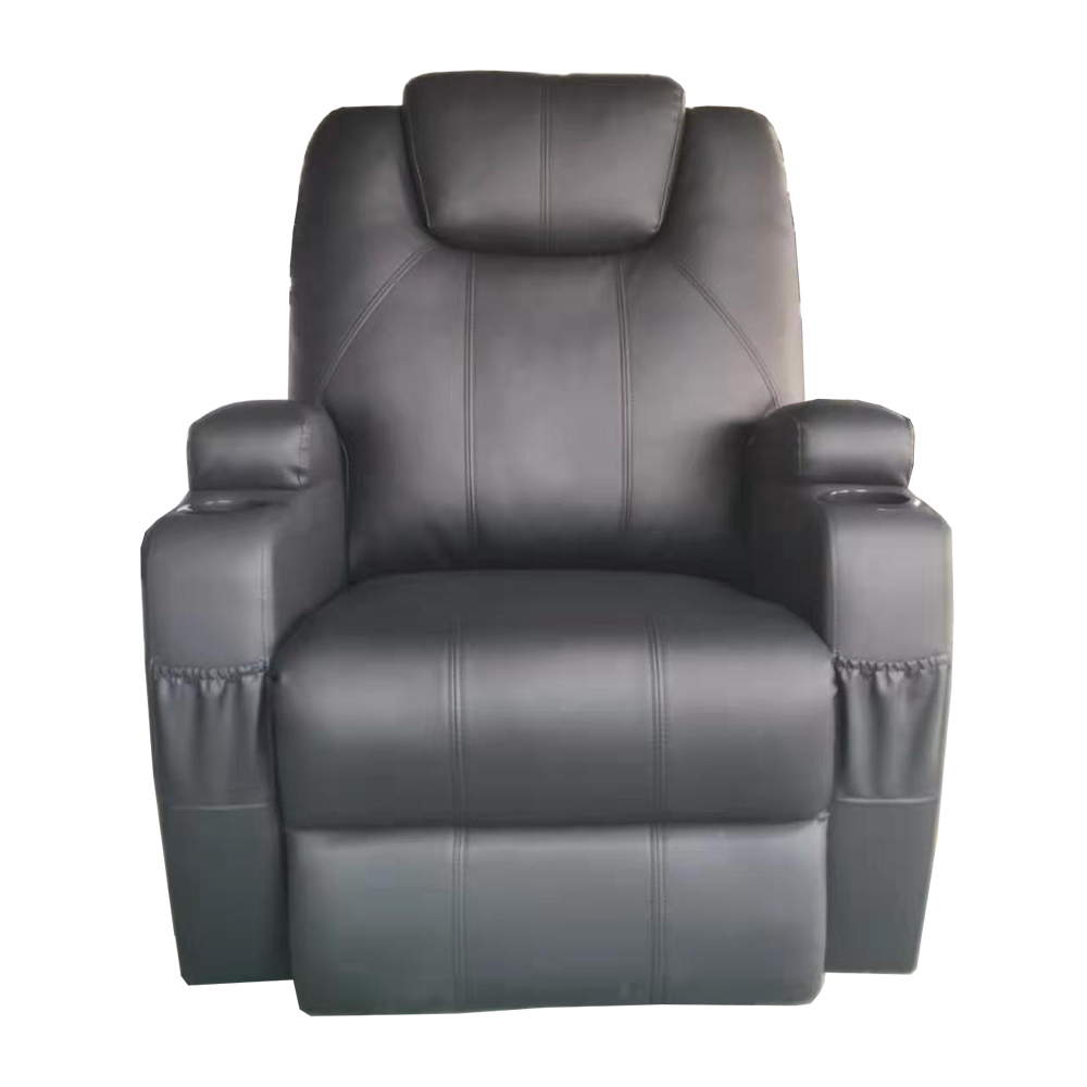 Popular design Breath leather cover Manual recliner chair with cup holder