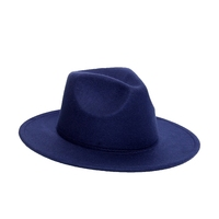 Wholesale Winter And Autumn New Wide Brim Fashion Jazz Cap Panama Vintage Felt Fedora Wool Wide Hat