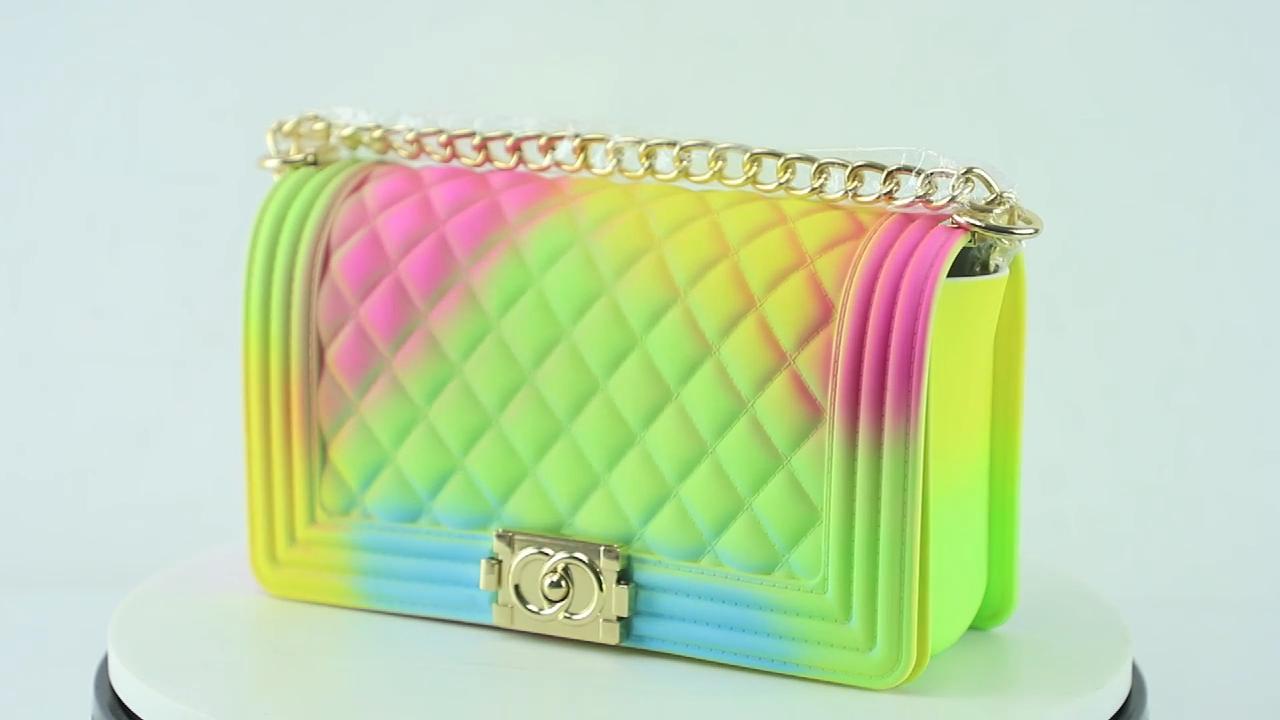 새로운 여성 핫 판매 젤리 숄더 가방 PVC 가방 토트 매트 숄더 핸드백