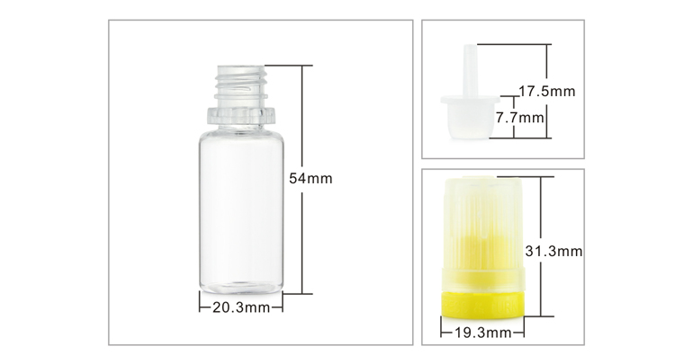 Low price10ml color printing PET plastic dropper eliquid bottles with child proof cap wholesale