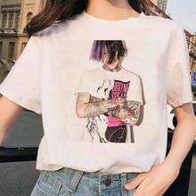 Женская футболка с принтом 90s, футболка с принтом Lil Peep в стиле Харадзюку, футболка в стиле хип-хоп, Ullzang, уличная одежда для мальчиков и девоче...(China)