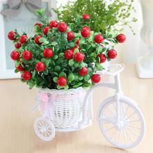 Искусственные розы в стиле велосипеда, ваза из ротанга, весенние декорации, искусственные цветы, домашний декор, подарок на день Святого Вал...(Китай)