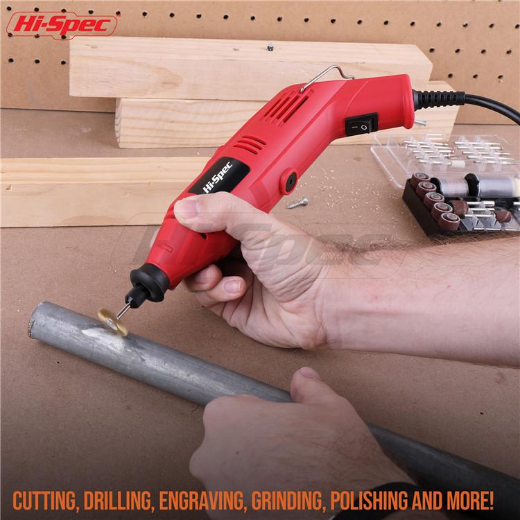 Hispec 135W פתול כוח רוטרי כלי ערכת לחיתוך וcrafting כמו סנדר מטחנות חרט & יותר עם כלי ערכת אבזרים