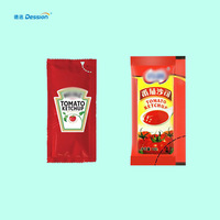 Automatic ketchup sauce small sachet vertical packing machine price for tomato paste sachet