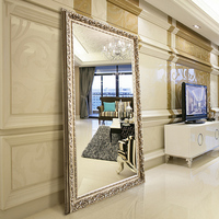 large wholesale floor standing dressing wall decor framed mirror for living room