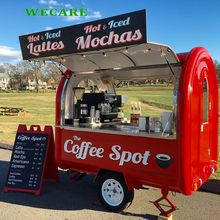 Mobile trailer fast food hot dog ice cream coffee carrello per la vendita