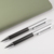 Exclusive Ball Pen Suppliers Luxury Carbon Fiber with Silver Metal Pen with Clip Corporate Promotional Gift Ballpoint Pen