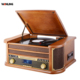 New Turntables USB SD Bluetooth wooden player Vinyl Record DAB Gramophone Player