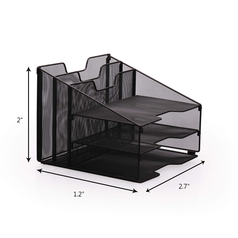 office set|mesh wire organizer|desk mesh organizer