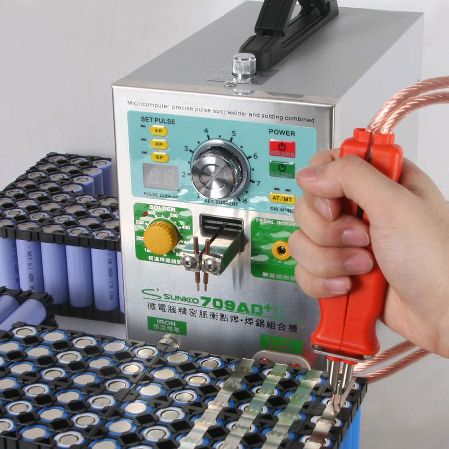 Sunkko 709AD+ spot welder with soldering iron spot welding machine for battery