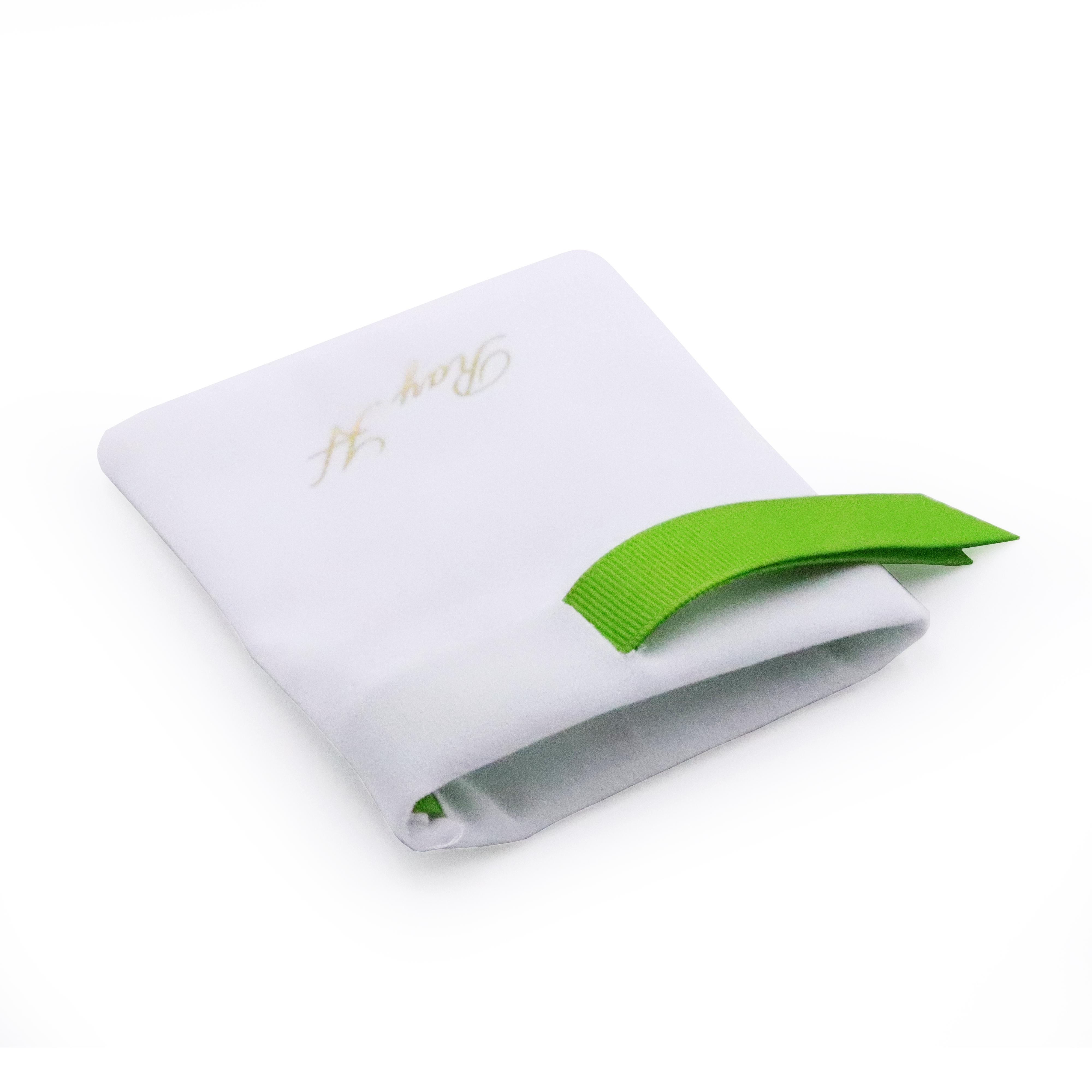 Изготовленные На Заказ высококачественные элегантные светло-белые замшевые мешки на шнурке для упаковки ювелирных изделий с печатным логотипом