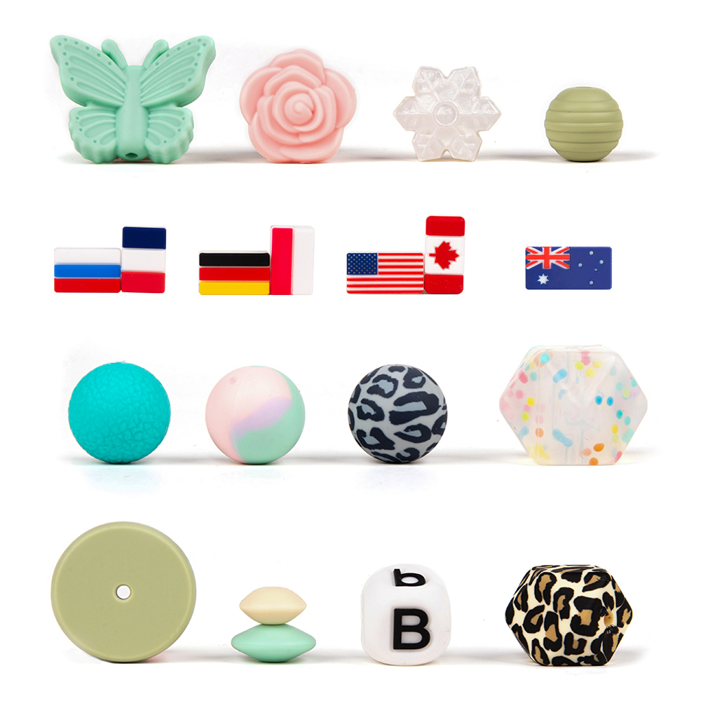 2017 Fashion good quality soft bpa free silicone teething alphabet numbered letters beads 2017 Fashion good quality soft bpa free silicone teething alphabet numbered letters beads<span style=