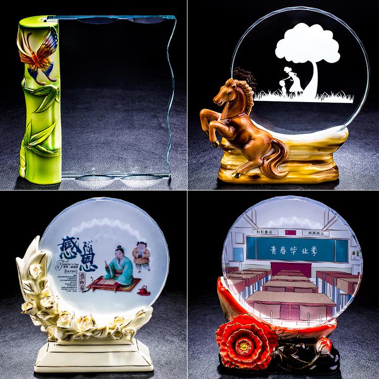 ¡Novedad! trofeo de cerámica con diseño único de flores de cristal para el Festival de Acción de Gracias