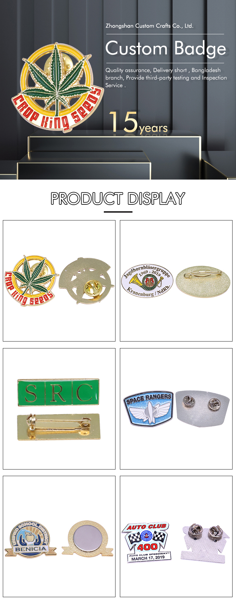 Safety Navy Metal Royal Army Blazer Pin Badge
