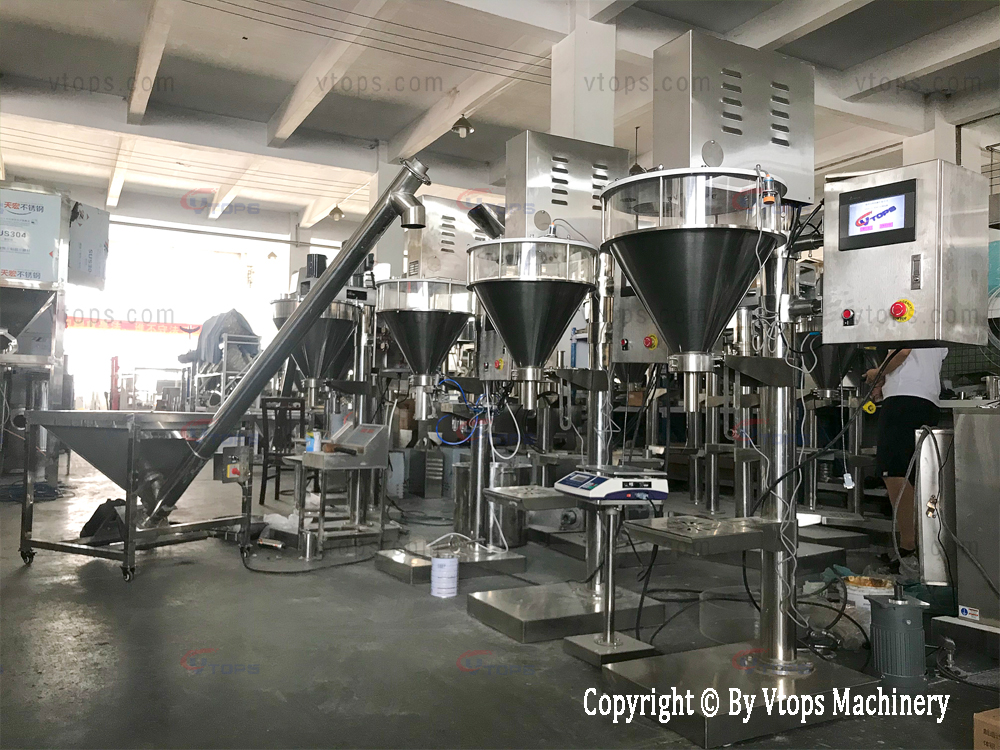 Semi Automatic Coffee Creamer Coffee Mate Powder Screw Dosing Cafe Auger Filling Machine