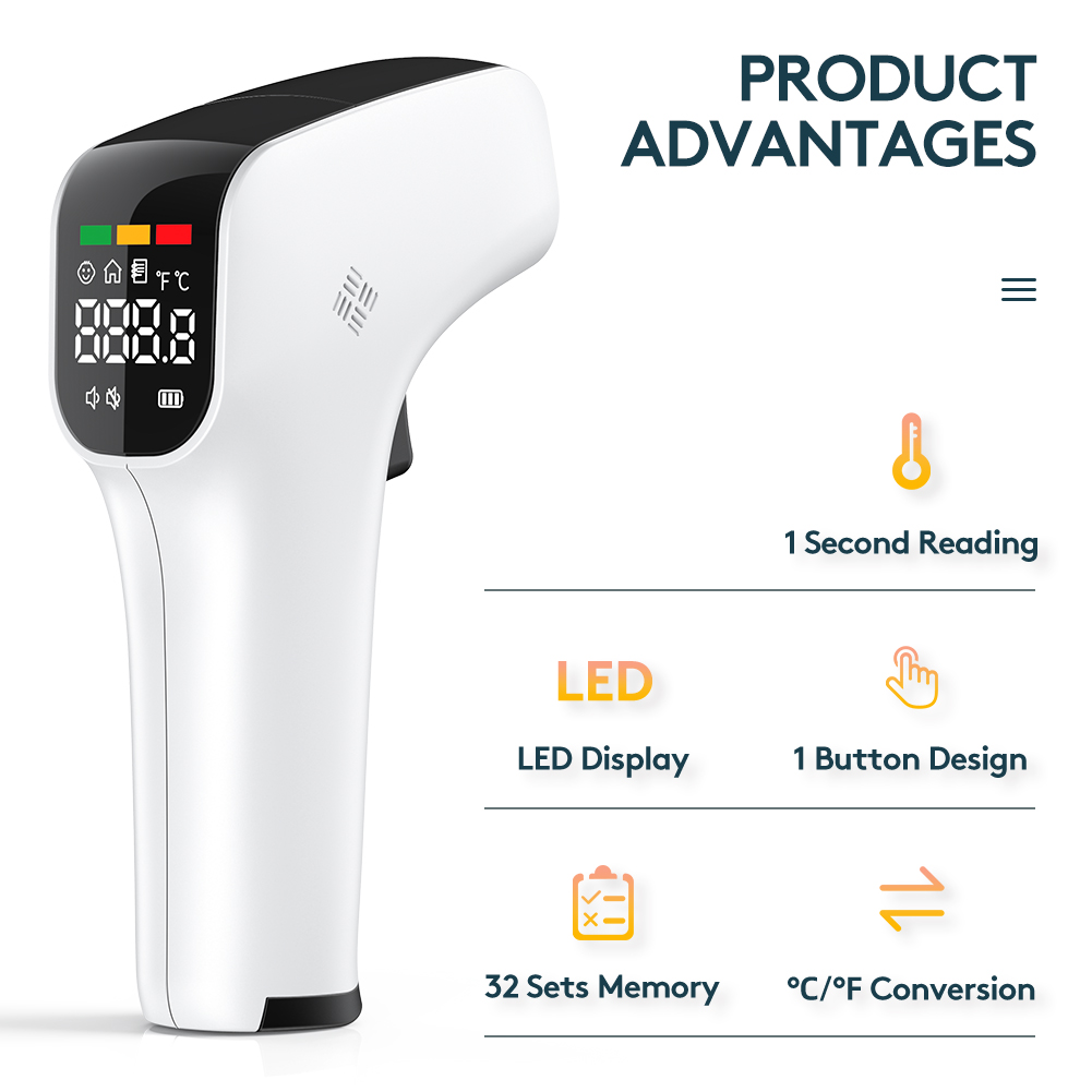 Clinical Fever Digital Laser Temperature Measurement Forehead Gun Hygrometer Baby Care Product Infrared Thermometer