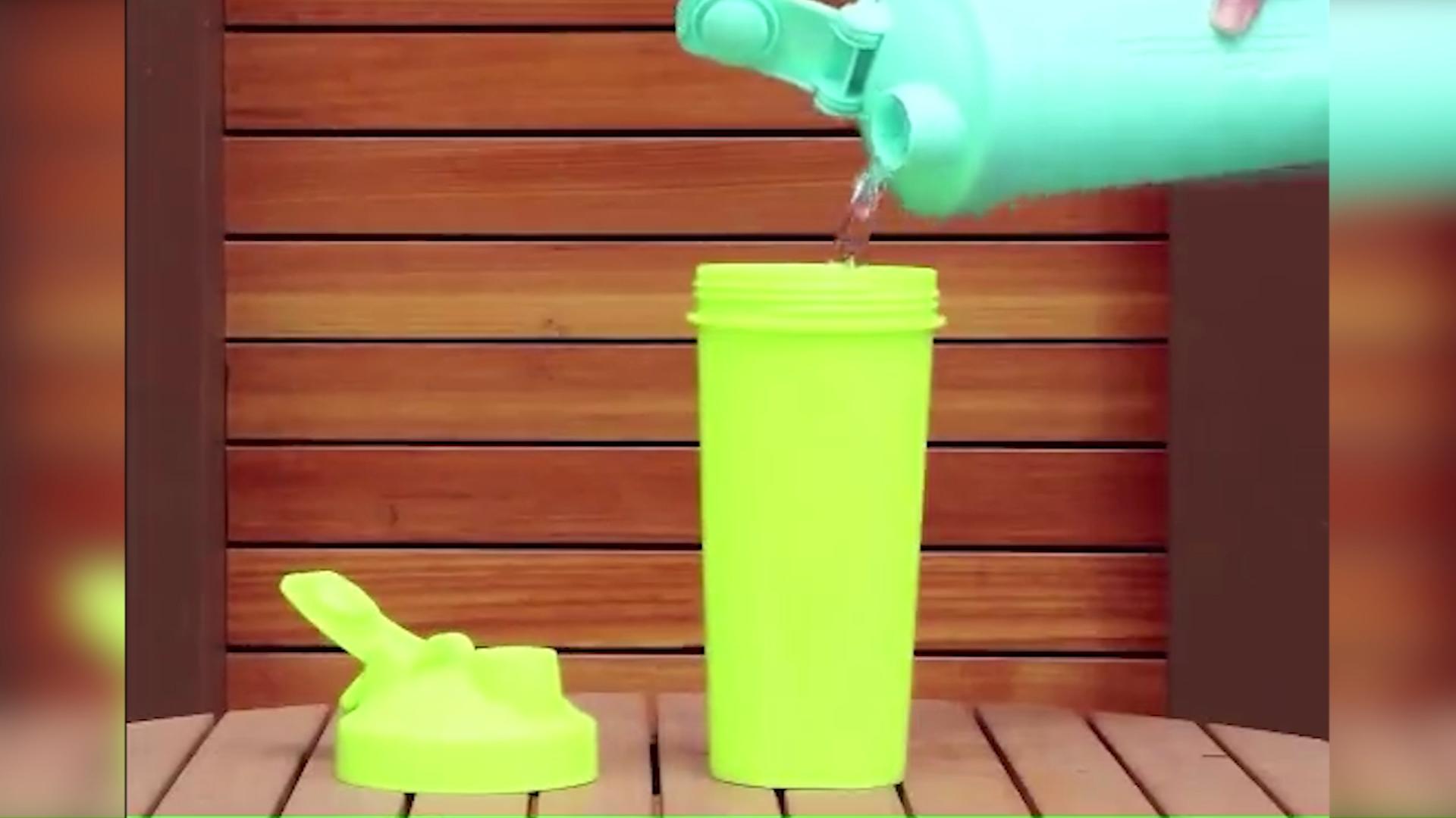 hot sale  Loop Top outdoor mixer ball drinking plastic protein  shaker bottle bpa free logo