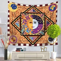 Custom psychedelic hippie mandala wall tapestry for living room bedroom
