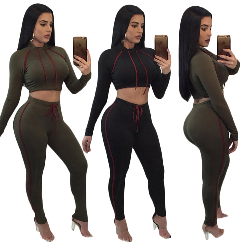 Fashion sweat suits for women ladies hooded tracksuits jogging suits