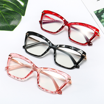 SHINELOT M0108 Popular Women Crystals Transparent Optical Glasses Frames Brand Clear Diamond Cut Spectacles Eyeglasses Frames