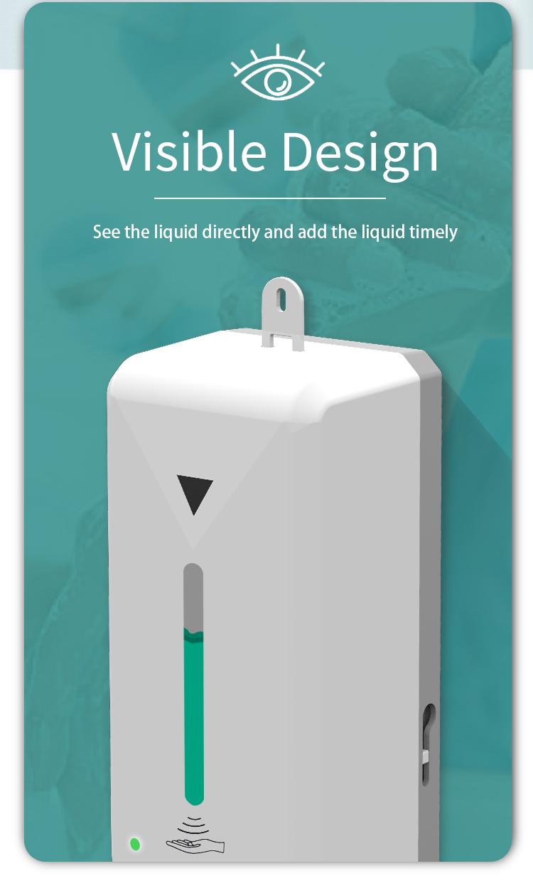 1 Litre sensor hand sanitizer dispenser automatic hand sanitizer dispenser in bangalore, wall mounted soap dispensers passive