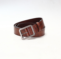 high quality used leather belts for man with flat buckle