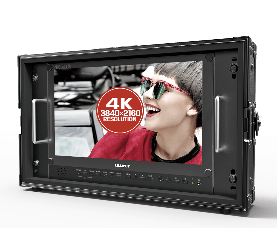 4K Broadcast director monitor studio monitor Multi Format Mounted in Rugged Case Carry on Broadcast Monitor
