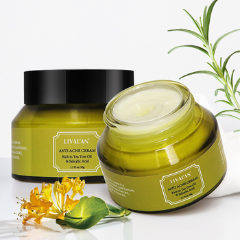 Wholesale Private Label Green Tea Whitening Tea Tree Oil Spot Treatment Face Anti Acne Cream