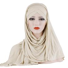 Hot selling in voorraad moslim vrouwen front cross <span class=keywords><strong>hijab</strong></span> sjaal premium stretcy AUTAIRE <span class=keywords><strong>ninja</strong></span> <span class=keywords><strong>hijab</strong></span>