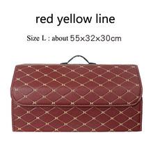 Автомобильная сумка для хранения из искусственной кожи, органайзер для багажника, портативная карманная складная сумка для хранения, сумка...(Китай)