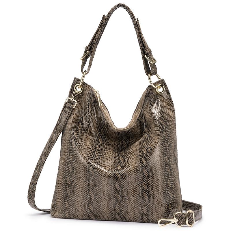 Женская сумка на плечо натуральная кожаная REALER, сумка для дам 2020,сумки женские роскошные сумки женские дизайнерские сумки,животных принты ж...(Китай)
