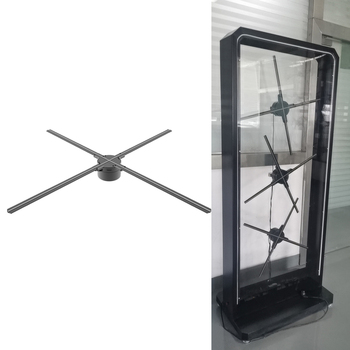DseeLab 3D hologram fan display outdoor advertising Dsee-65H at 1m real person height display with 3pcs holo fans