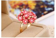 Кольцо с цветком, индивидуальная Мода, Женский керамический цветок, простые ювелирные изделия, бохо принцесса, регулируемые обручальные ко...(Китай)