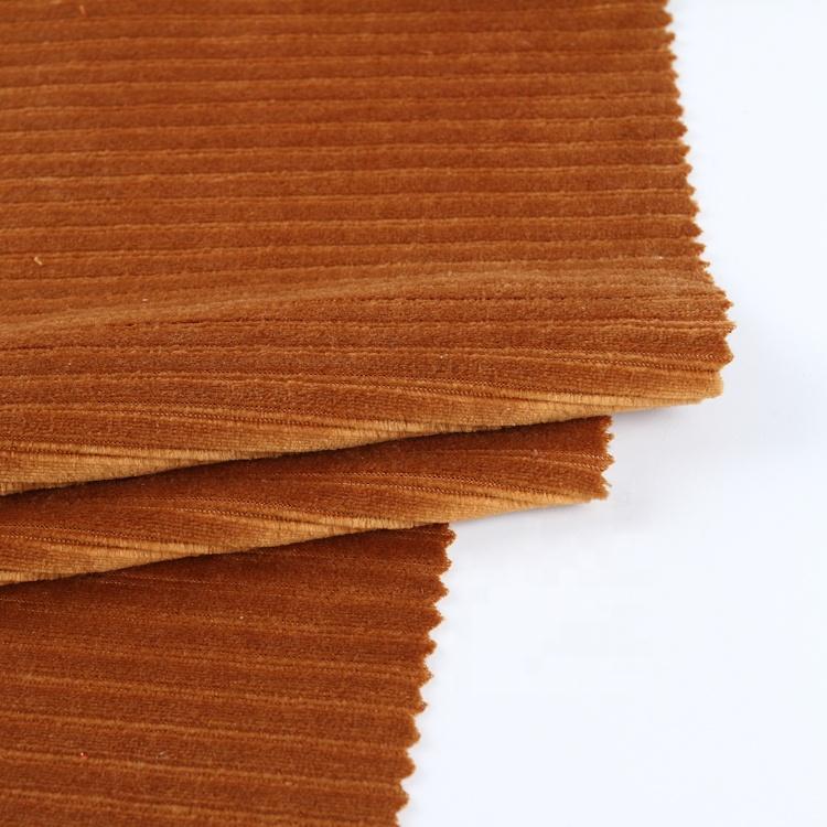 צבע מותאם אישית קטיפה 250gsm קורדרוי בד חומר סרוג בד קורדרוי