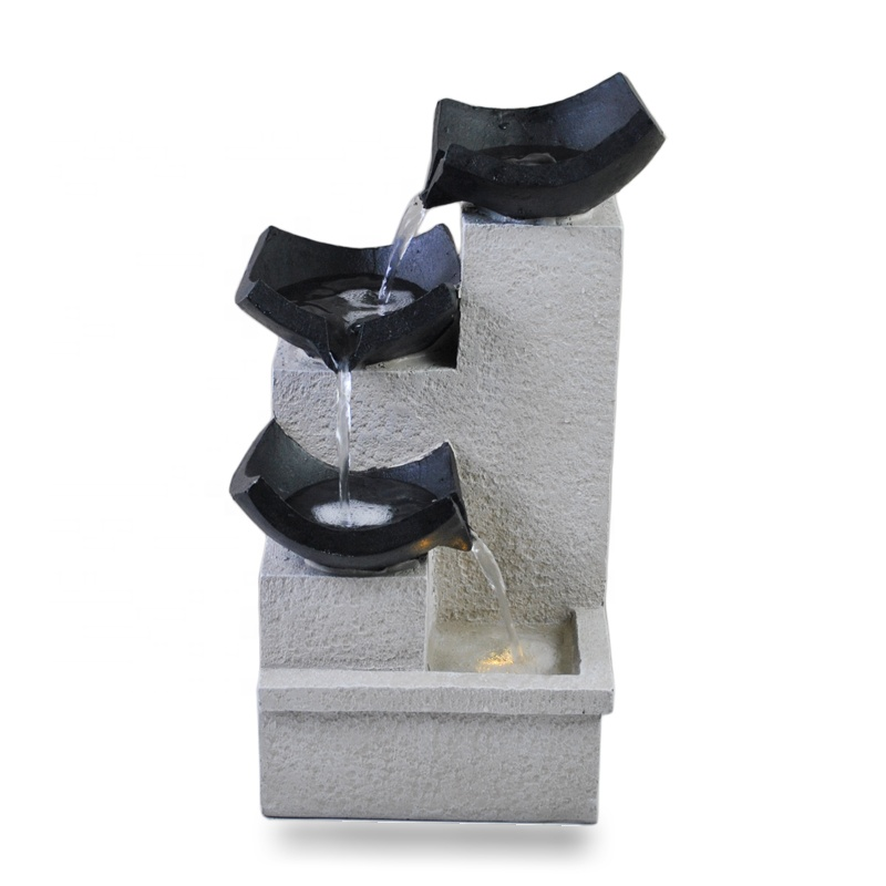 home ornament resin water fountain waterfall garden decoration