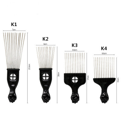 VMAE For Black Men Salon Shop Hairstyling Tool ABS Plastic Handle With Stainless <strong>Steel</strong> Material Fork <strong>Comb</strong> <strong>Hair</strong> <strong>Combs</strong>
