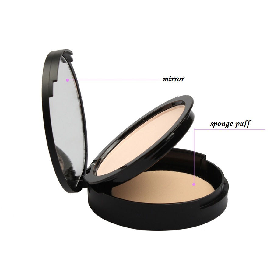 High Quantity Makeup Foundation Round Packaging Case Cosmetics Powder Whitening Face Bright Compact Mirror