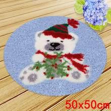 Набор для вышивания ковров, защелка, крючок, защелка, подушка Fomiaran для рукоделия, вязание крючком, вышивка крестом, подарок Санта-Клауса(Китай)
