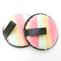 100% polyester round makeup remover reusable pads