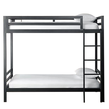 Safe stainless steel secret bunk bed with mattress loft