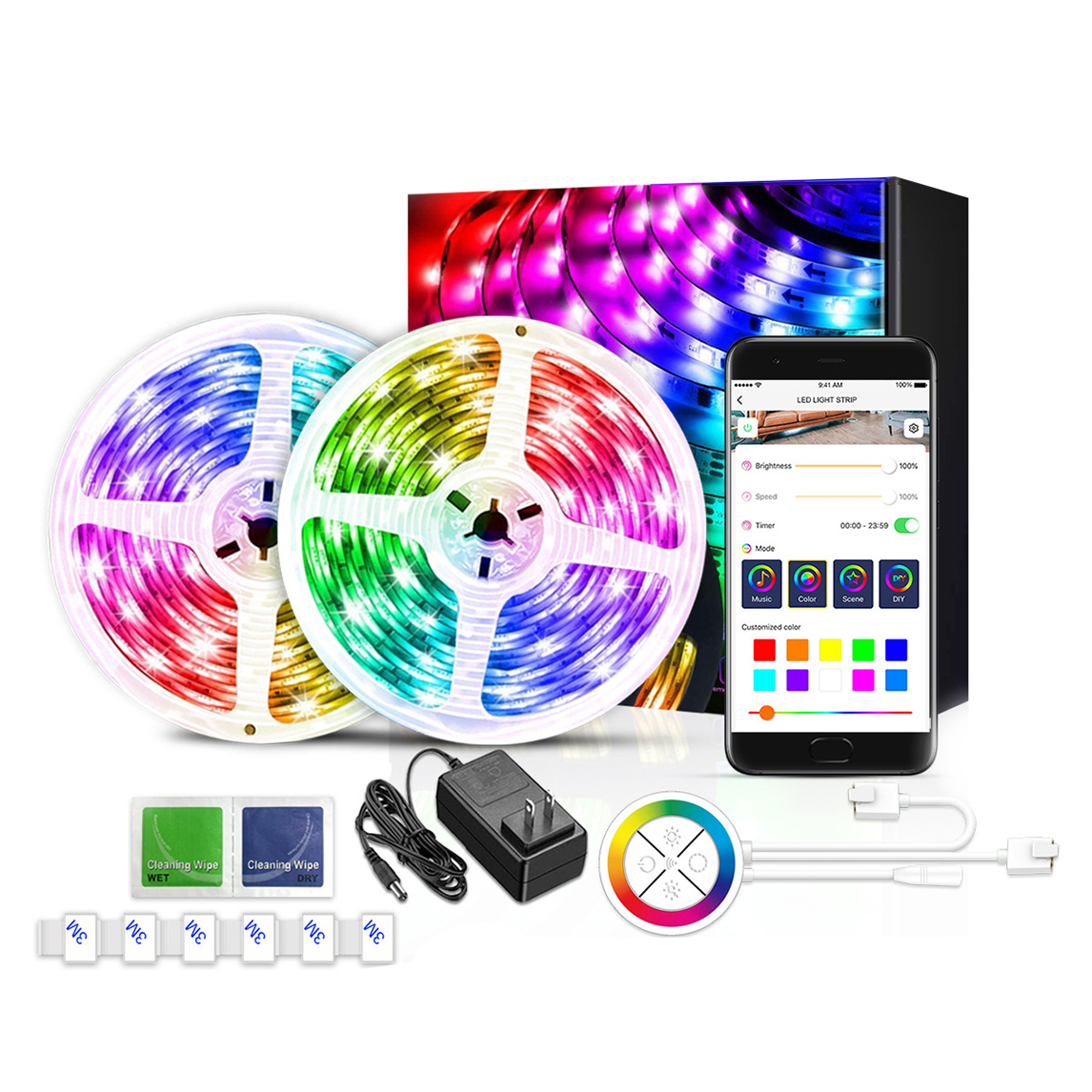 Private Model Music Sync 5050 Smart Wifi Dream Color Led Strip Lights Works With Alexa Google Assistant