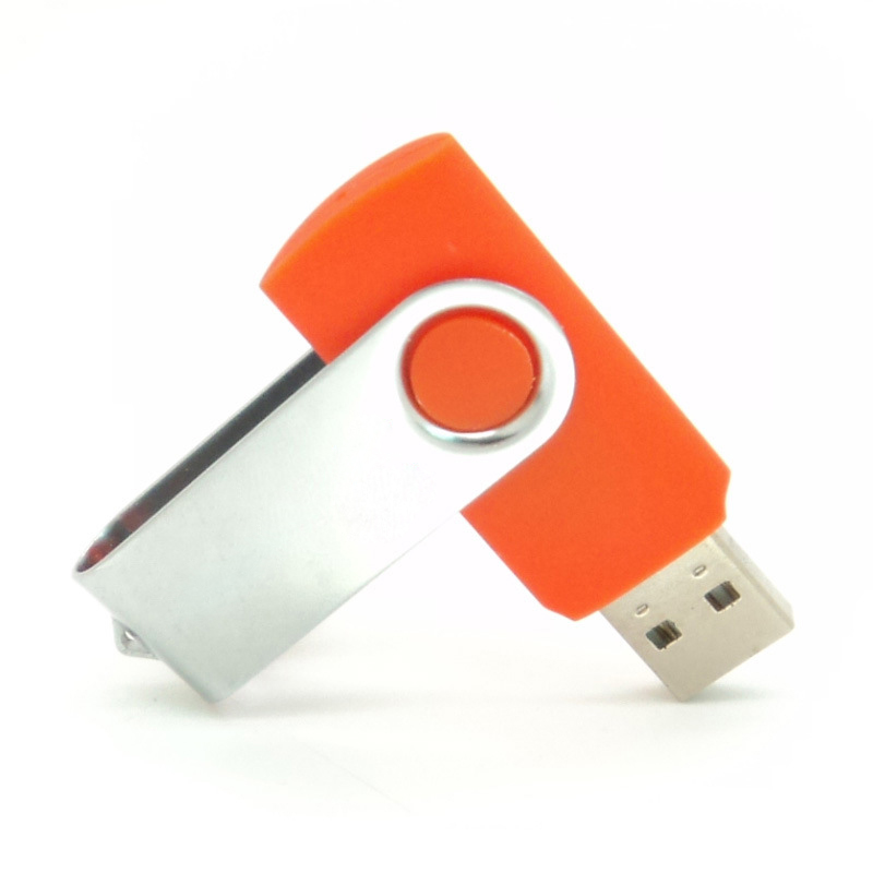 32GB Swivel USB Flash Drive USB Thumb Drive Reliable and Stable Storage Capacity for Students,Office,Company Orange