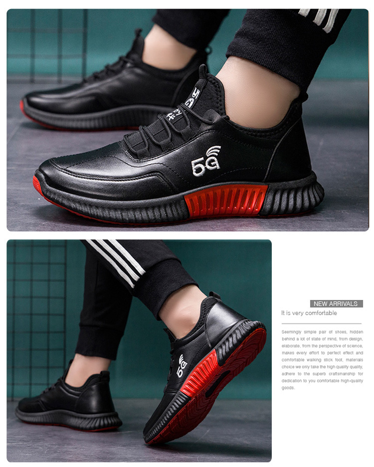 Cheap Factory Price pu sport men casual leather shoes with logo