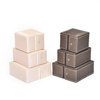 Custom luxury pu leather box for jewelry
