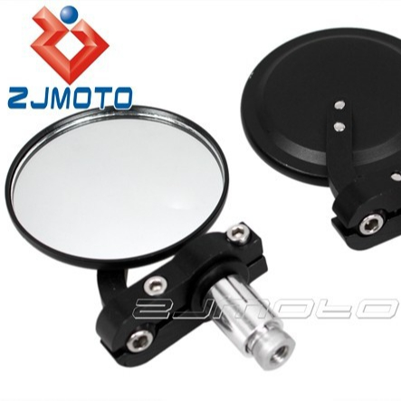 """Motorcycle 3/"""" Round 7//8/"""" Handlebar End Rear View Side Mirrors for Sports Bikes"""