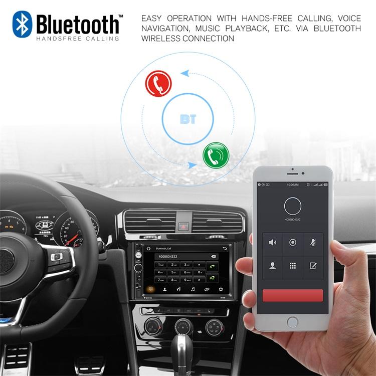 "Podofo 2 Din Android 9.1 Car Radio 2+32GB Autoradio Universal 7"" Car Video Player GPS Navigation WiFi Mirrorlink"