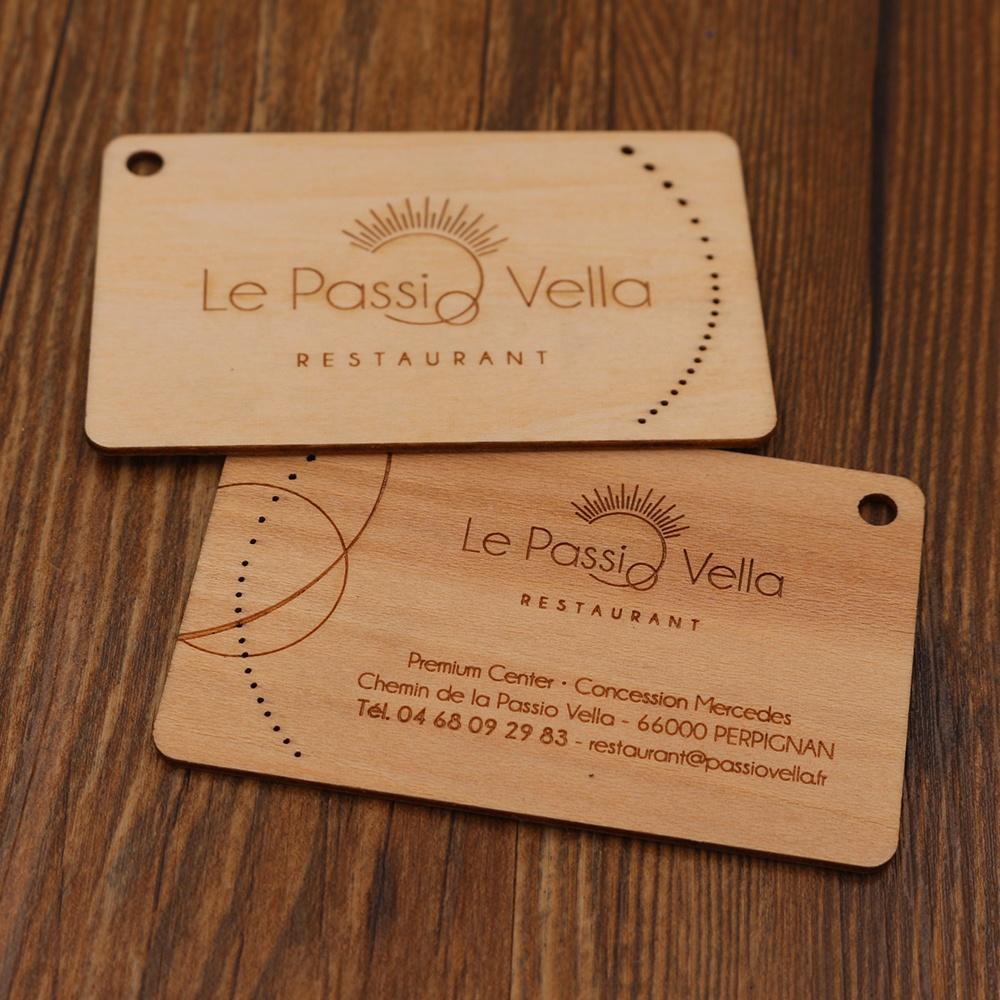 Großhandel Bambus Oder Holz Carving Visitenkarten Gedruckt Auf Holz