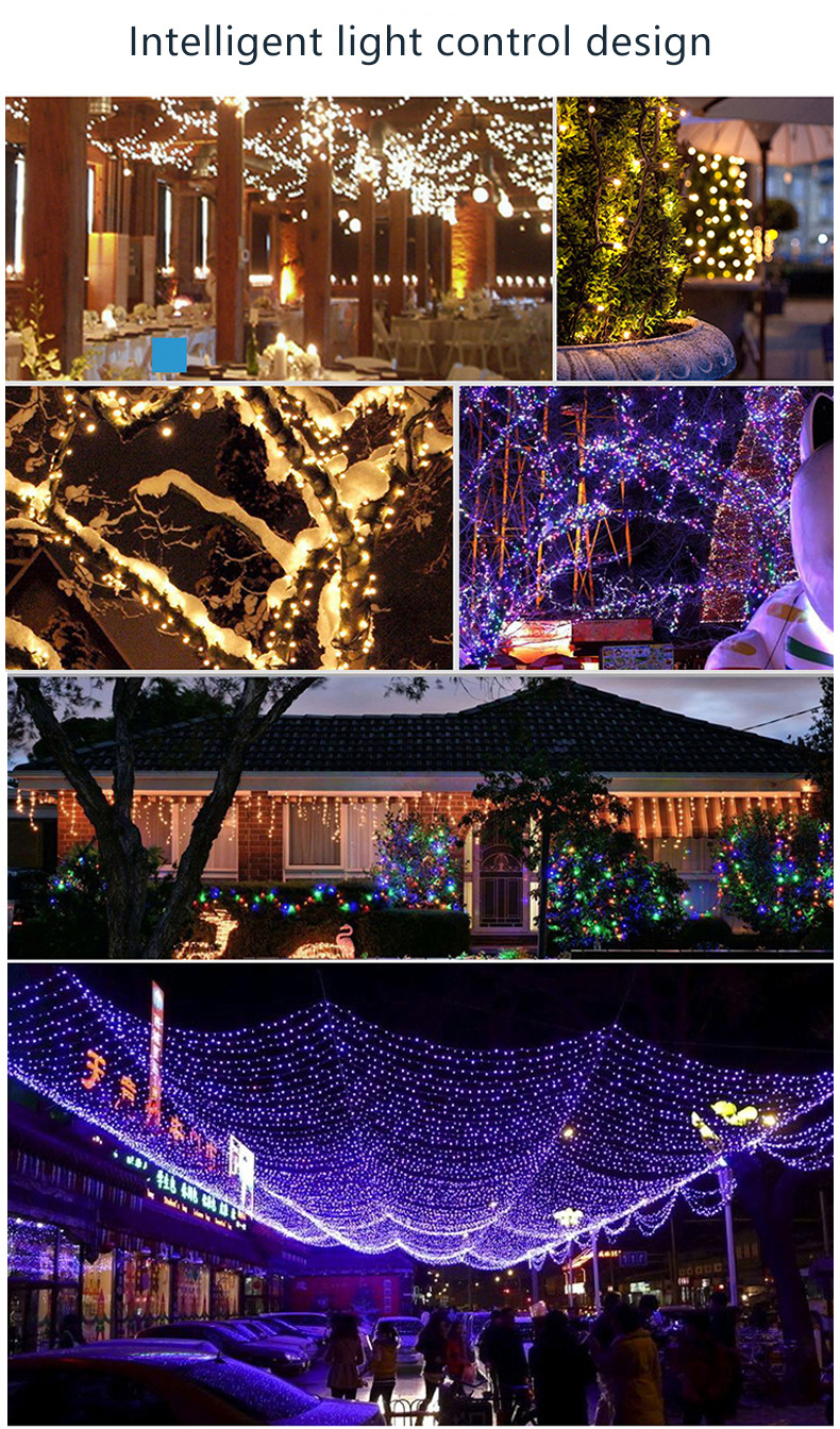 30LED Outdoor Decorations String Solar Lighting Lamps China Fairy String Holiday Ball Solar Led Christmas Lights