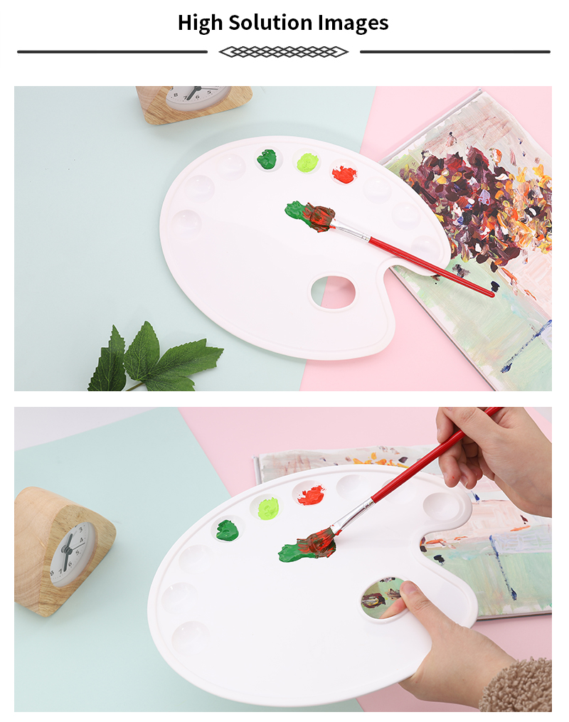 BLOT TS-062 White Superior Oval Shape PP Paint Palette For Painting